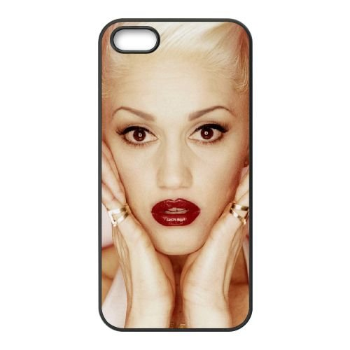 Gwen Stefani 001 coque iPhone 5 5S cellulaire cas coque de téléphone cas téléphone cellulaire noir couvercle EOKXLLNCD24166