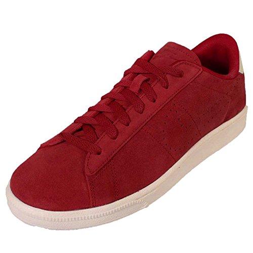 Nike Heren Tennis Klassiek Suede Schoenen-varsity Rood / Ivoor 10.5