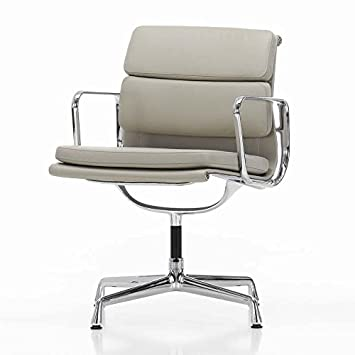 Bürostuhl Vitra vitra ea 208 pad eames alu chair bürostuhl leder sandfarben