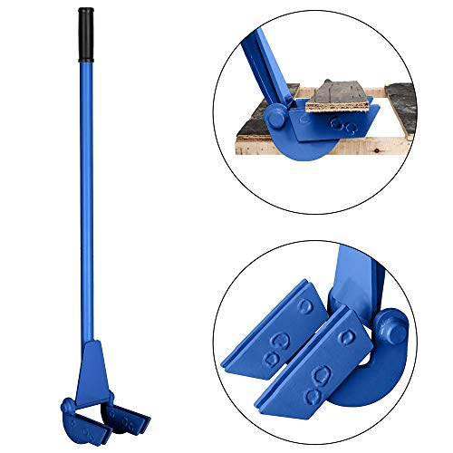 (TUFFIOM 44-Inch Pallet Buster Tool with Extended Padded Handle & Free Nail Puller| Deluxe Industrial Pallet Breaker| Iron Pry Bar Deck Wrecker, Longer & Easier (Blue))