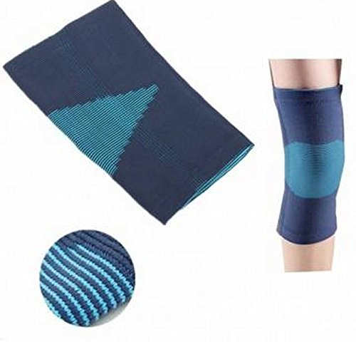 Size:L, Adjustable Neoprene Blue Knee Brace Support Pad Strap Guard Protector Sports by GokuStore