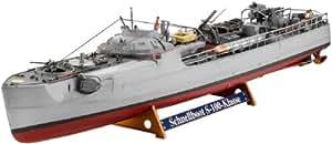 Revell 05002 - Maqueta de buque torpedero Dt.Schnellboot S-100 y cañón antiaéreo Flak 38 (escala 1:72)