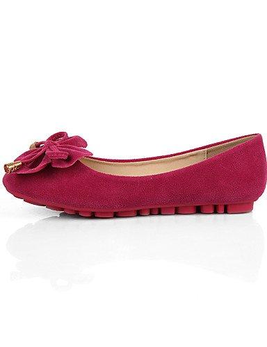 uk7 colores cerrado pink Flats tipo us9 de ante disponibles talón PDX de Toe Mocasín Punta mujer plano casual Redonda eu40 más vestido cn41 zapatos ATqOBF