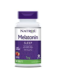 Natrol Melatonin Fast Dissolve Tablets, Strawberry flavor, 1m...