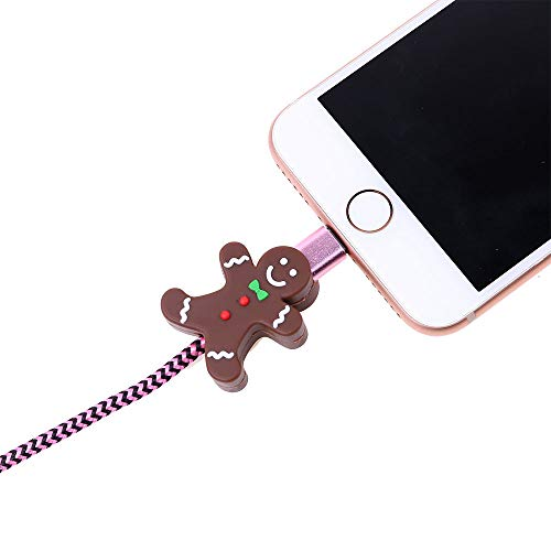 able Bite iPhone Cable Cord Cute Animal Cable Protects Saver Phone Accessory (F) ()