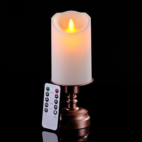 8 Ivory Dancing Flameless Led Candle With10 Key Remote