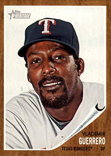 2011 Heritage Card - 2011 Topps Heritage #125 Vladimir Guerrero Rangers MLB Baseball Card NM-MT