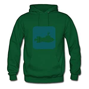 Round-collarclothing Women Military - Symbols: The Submarine Printed Hoody (x-large,green)