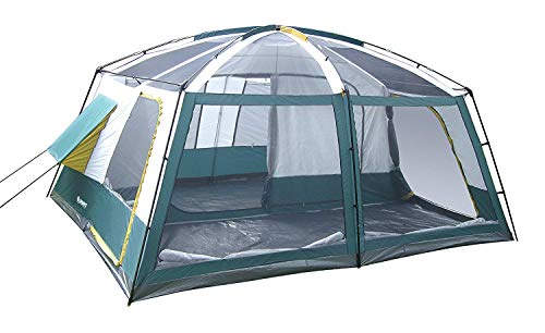 GigaTent 10 Person Family Tent – 3 Room Cabin Tent for Outdoors, Parties, Camping, Hiking, Backpacking – Waterproof, Durable Heavy Duty Material, Portable & Easy to Set Up – with Carry Bag