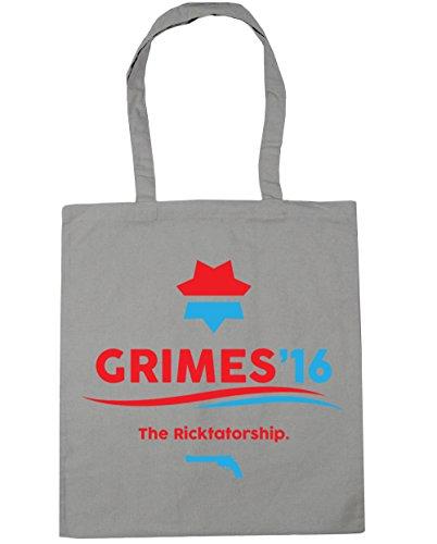 HippoWarehouse Grimes 2016la Ricktatorship Tote Compras Bolsa de playa 42cm x38cm, 10litros gris claro