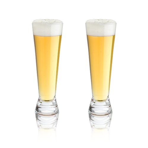 Glass Shot Pilsner (Viski 5328 Raye: Crystal Pilsner Glasses Beer, Clear)