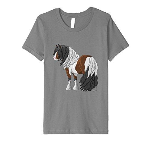 Kids Bay Pinto Gypsy Vanner Draft Horse T-shirt 6 (Gypsy Bay)
