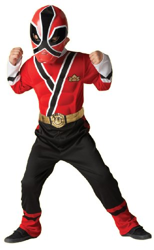 [Small Child's Red Power Ranger Costume] (Power Ranger Samurai Costumes)