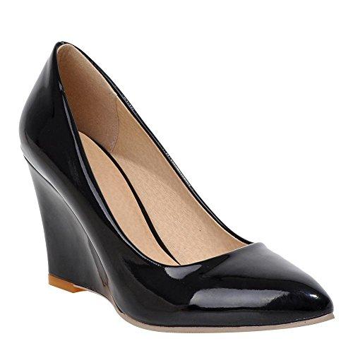 428fdd1030a83 YE Escarpins Femmes Chaussures Sexy et Simple Bout Pointu à Talon Haut  Compensé sans Plateforme Noir
