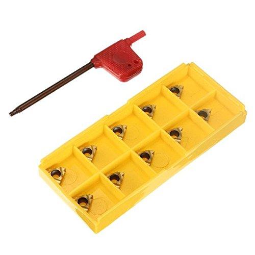 Pukido 10pcs 11IR A60 Carbide Insert For Turning Tool Holder Boring Bar