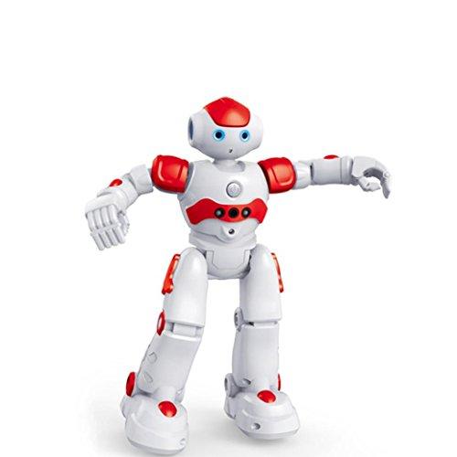 Ikevan Robot Toys Walk, Slide, Dance, Singing, Programmable,One Key Demonstration,Gesture Sensing,Cool light, Flytec FQ4005 Obstacle Avoidance Sing&Dance Gesture Control Intelligent RC Robot (Red)