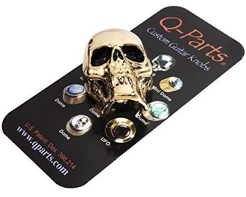 - Q-Parts Jumbo Skull II guitar knob, Gold