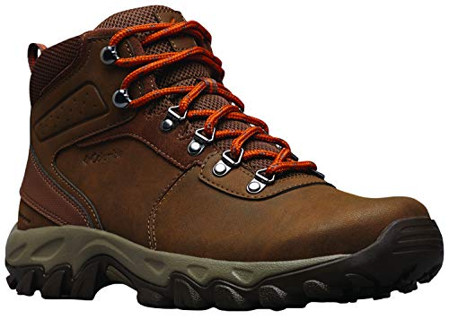 Columbia Men's Newton Ridge Plus II Waterproof Hiking Boot, Dark Brown/Bright Copper, 12 M -