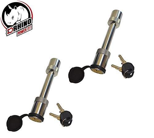 D-Rhino 5/8' Locking Hitch Pin with Keys and Cover Truck Trailer Receiver Security (2 PC's)