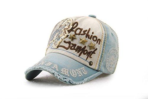 Leezeshaw Gorra para de Hombre vaquero béisbol azul rrwBqzHd