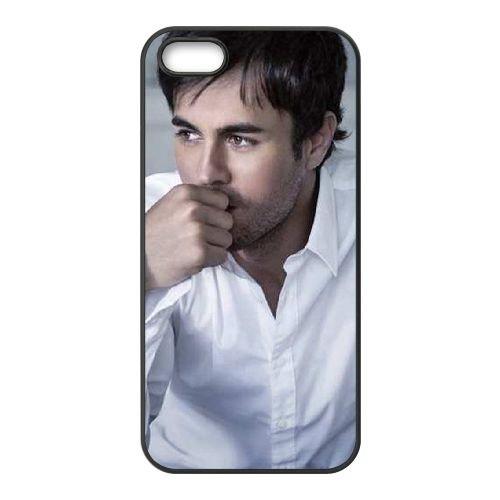 Enrique Iglesias 006 coque iPhone 4 4S Housse téléphone Noir de couverture de cas coque EOKXLLNCD16463
