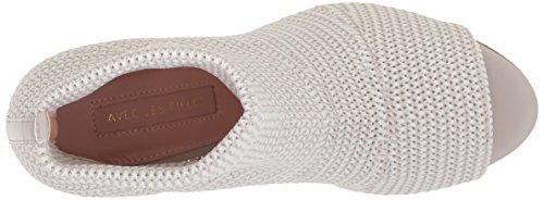 Heeled Women's Mariah Light Sandal Grey Stretch Knit Avec Filles Les ERaIqI