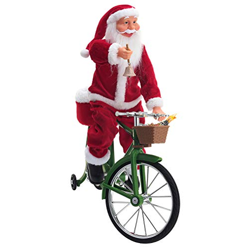 Mr. Christmas 30482 Cycling Santa Holiday Decoration One Size Multi ()
