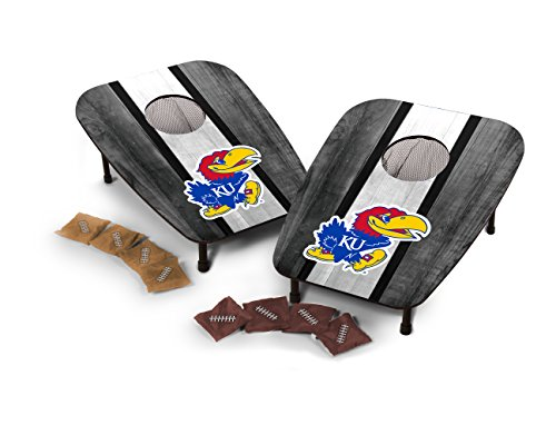 - Wild Sports NCAA College One Hole Bean Bag Toss Game (Kansas Jayhawks)