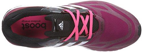 adidas Response Boost Techfit W - Zapatillas Mujer Morado (triber/chwite/cblack)