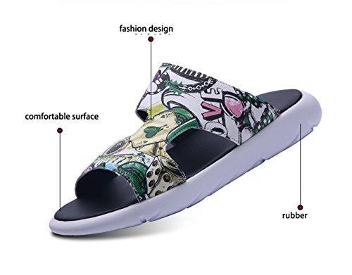 Sandali Unisex Open spiaggia Rosso scarpe il Outdoor tacco tempo Sneaker Indoor Toe da LHFJ moda alla alto libero per dftwf