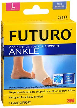Futuro Comfort Lift Ankle Support – Large, Pack of 3