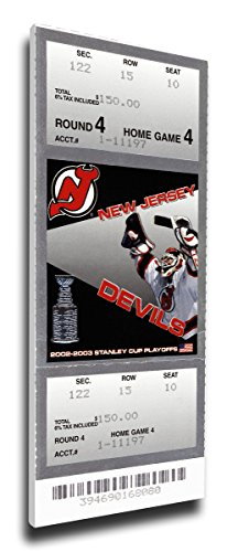 That's My Ticket 2003 NHL Stanley Cup Mega Ticket Wall Decor, New Jersey Devils