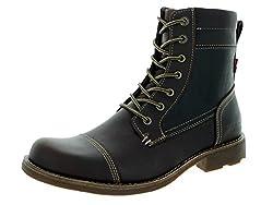 Levis Men's Lex II Chukka Boot, Dark Brown, 9.5 M US