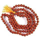 RUDRADIVINE Rudraksha Mala Self Certified (Natural Brown 108 +1 Beads 6 mm)