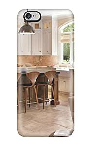 New Cute Funny Warm White Kitchen With Modern Barstools Case Cover Iphone 6 Plus Case Cover