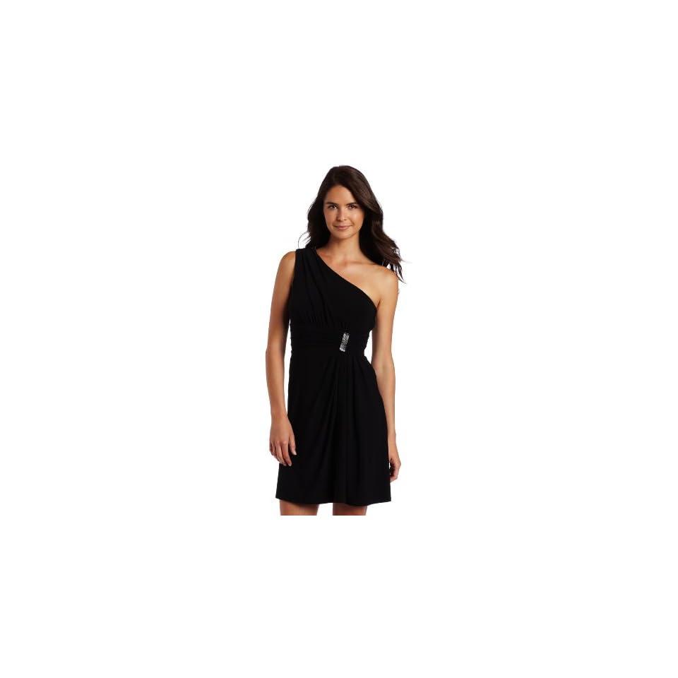 Calvin Klein Womens Flutter One Shoulder Dress Clothing