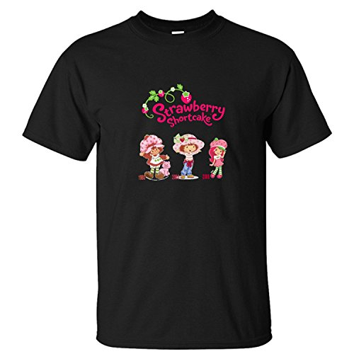 - YATENG Strawberry Shortcake Berry Best in Show Men's T Shirt Short Sleeves black L