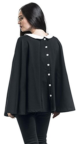 Pussy Collar blanco Negro Deluxe Poncho qHwqzxRB