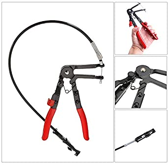 Flexible Wire Long Reach Hose Clamp Pliers For Fuel Hose NE Tool Oil Water F1Q5