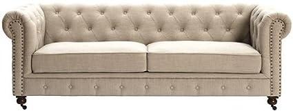 Beau Gordon Tufted Sofa, 32u0026quot;Hx91u0026quot;Wx38u0026quot ...