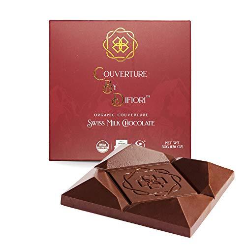 Difiori Hand Crafted Creamy Swiss Artisan Milk Chocolate with 100 mg Hemp Extract Organic Fair-Trade – All Natural…