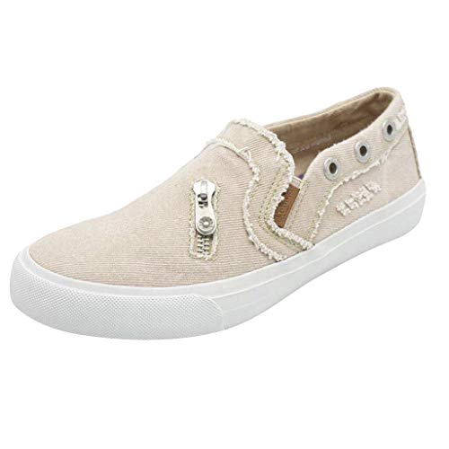 Dasuy Athletic Running Walking Shoes for Women Loafers Slip On Flats Espadrilles Shoes Tennis Trainer Sneakers Size 5-9
