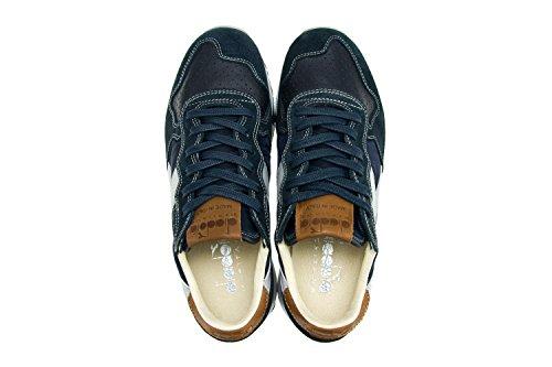 DIADORA HERITAGE Herren Damen Schuhe Sneakers Aus Nubuk Und Textil TRIDENT 90 NYL Blau