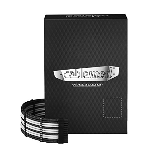 Axis Series - CableMod PRO ModMesh C-Series AXi, HXi & RM Cable Kit (Black/White)