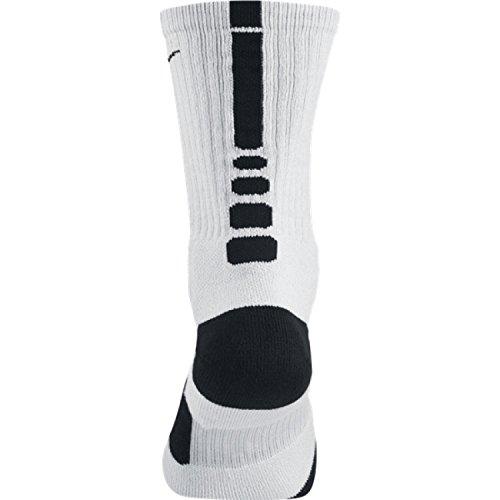 Nike Unisex Adult Elite Basketball Crew SMLX Sock White/Black XkCweN