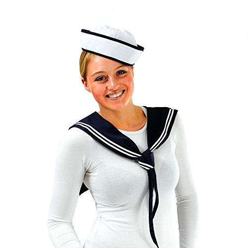Womens Sailor Hat (Adult Sailor Girl Set - Hat and Scarf)