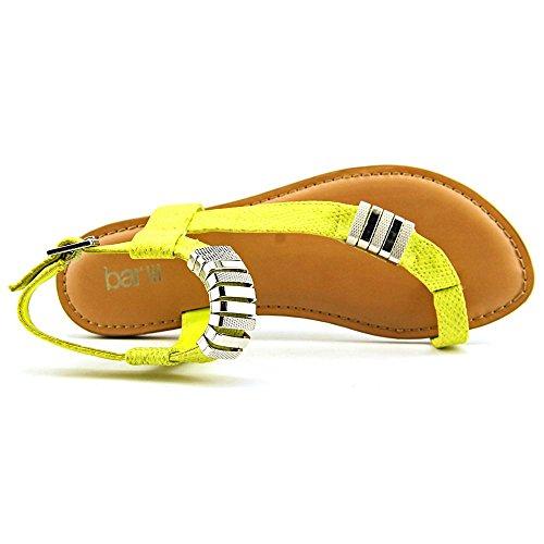 Bar Iii Donna Verna Open Toe Casual Sandali Con Il Cinturino Giallo Brillante