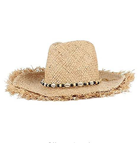 5d45473abae7c Image Unavailable. Image not available for. Color  ALWLj Vintage Raffia Straw  Hats Floppy Wide Large Sun ...