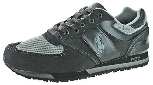 Polo Ralph Lauren Slaton Men's Fashion Sneakers Shoes Black Size 11