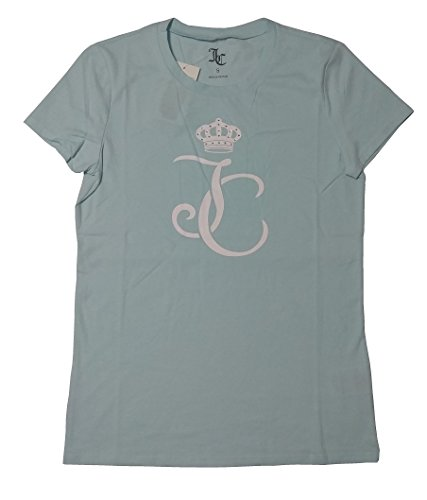 Juicy Couture Logo Juicy Short Sleeve Tee (Small, Blue Glow)
